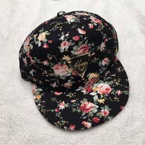 5/$25 Hater floral snapback hat